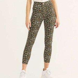 NEW Free People Belle Printed Skinny Jeans Pants